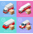 Delivery 07 Infographic Isometric vector image