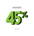 discount 45 template design vector image vector image