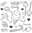 doodle of sweet candy various collection vector image vector image