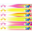 Easter Day Banner Set Skyscraper with Stars vector image vector image