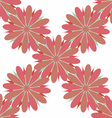 Flower seamless pattern decorative design element vector image