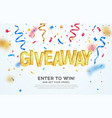 giveaway golden word celebration winning on vector image vector image