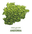 green leaf map of andorra of a vector image vector image