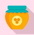 honey jar icon flat style vector image vector image