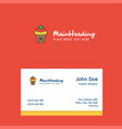ice cream logo design with business card template vector image vector image