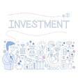 Investment Infographics vector image vector image