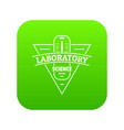 laboratory icon green vector image vector image