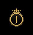 letter j royal crown luxury logo design vector image vector image