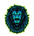 lion head esport mascot logo vector image vector image