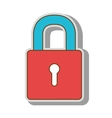 lock security closed vector image vector image