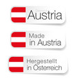 made in austria label with translation vector image vector image