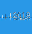 medical christmas banner 2018 happy new year vector image vector image