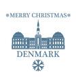 Merry Christmas Denmark vector image vector image