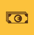 money icon euro and cash coin currency bank vector image vector image