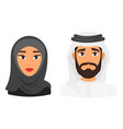 muslim man woman avatar vector image