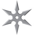 ninja star - shuriken vector image vector image