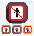 No Human male sign icon Person symbol vector image vector image