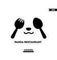 panda restaurant logo vector image