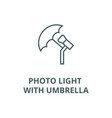 photo light with umbrella line icon linear vector image vector image