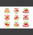 premium quality fresh meat logo templates set vector image vector image