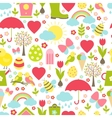 Pretty delicate seamless spring pattern vector image vector image