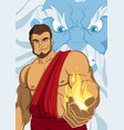 prometheus giving fire vector image vector image