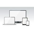 realistic laptop tablet computer monitor vector image vector image