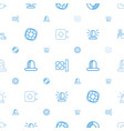 rescue icons pattern seamless white background vector image vector image