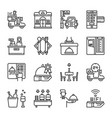 restaurant service icon set vector image