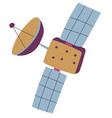 satellite floating in cosmos receiver signal vector image