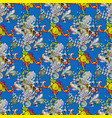 seamless pattern with floral ornament flowers on vector image