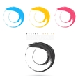 Set of hand color circles vector image vector image