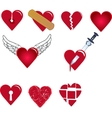 set of heart shapes vector image vector image