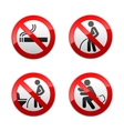 Set prohibited signs - Toilet stickers vector image vector image