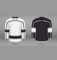 shirt template forice hockey jersey vector image