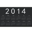 Simple european 2014 year calendar vector image vector image