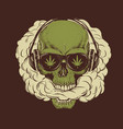 skull smoking a marijuana vector image