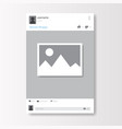 social network photo frame on white background vector image