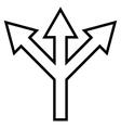 Split Arrow Outline Icon vector image vector image