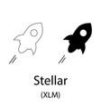 stellar black silhouette vector image vector image