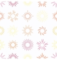 Suns in the sky seamless pattern vector image vector image
