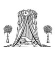 traditional decorative tent for a party or wedding vector image vector image