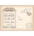 vintage postcard save date background vector image