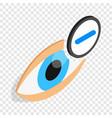 vision myopia isometric icon vector image vector image