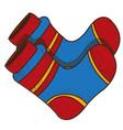 warm socks logo clothing equipment and vector image vector image