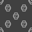 watches icon sign Seamless pattern on a gray vector image