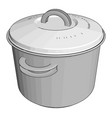 white cookware on white background vector image vector image