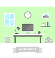 Workspace vector image vector image