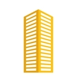 yellow building line sticker image vector image vector image