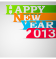 Happy new year paper strips eps10 vector image